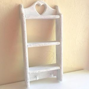 Other - Shabby Chic Farmhouse Style Wall Shelf White